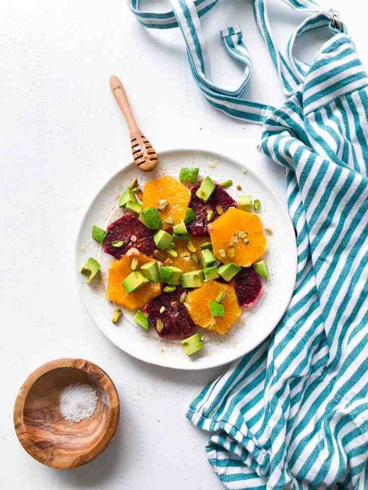 Spring Citrus Salad with Avocado & Pistachios.