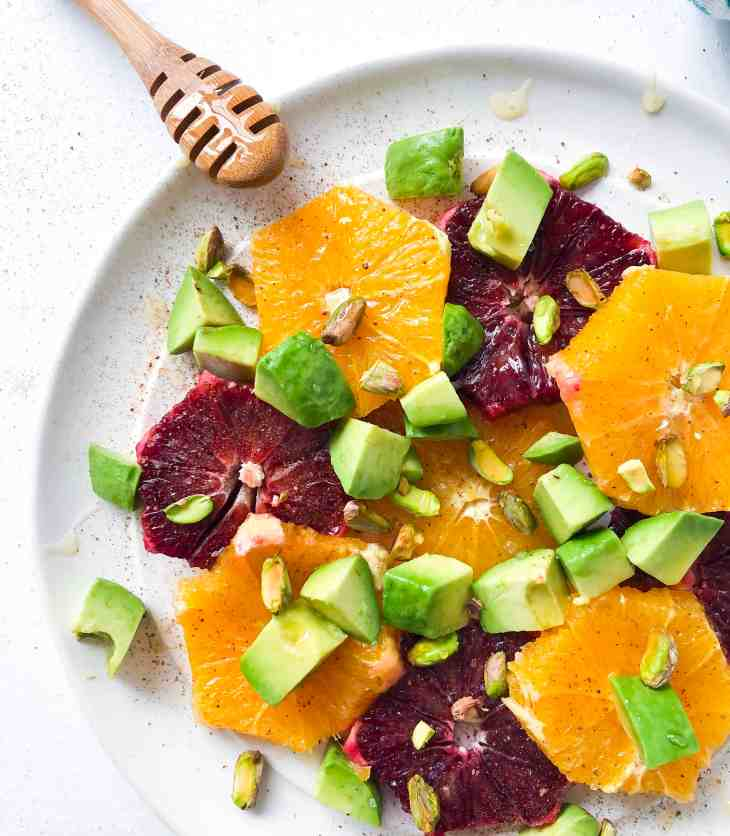 Spring Citrus Salad with Avocado & Pistachios.