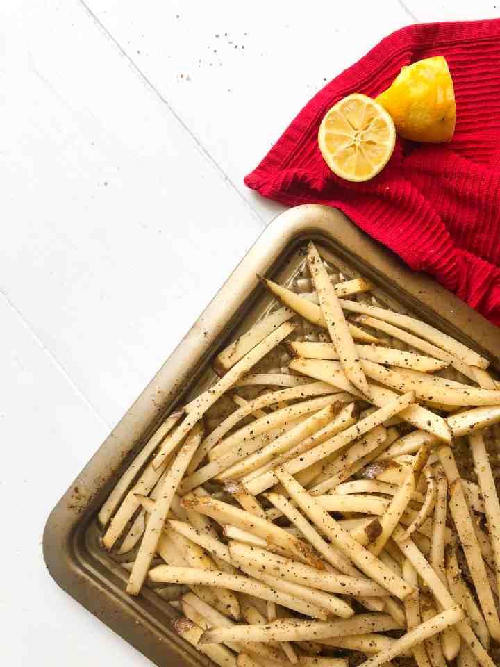 Lemon Pepper Oven Baked Fries