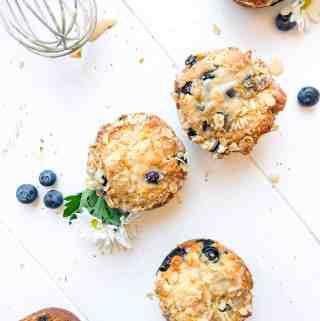 Vegan Oatmeal Blueberry Muffins