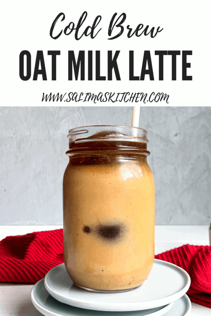 Oat Milk Cold Brew Coffee Lattes