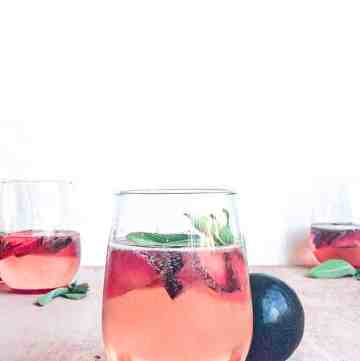 Plum Prosecco Cocktails with Sage.