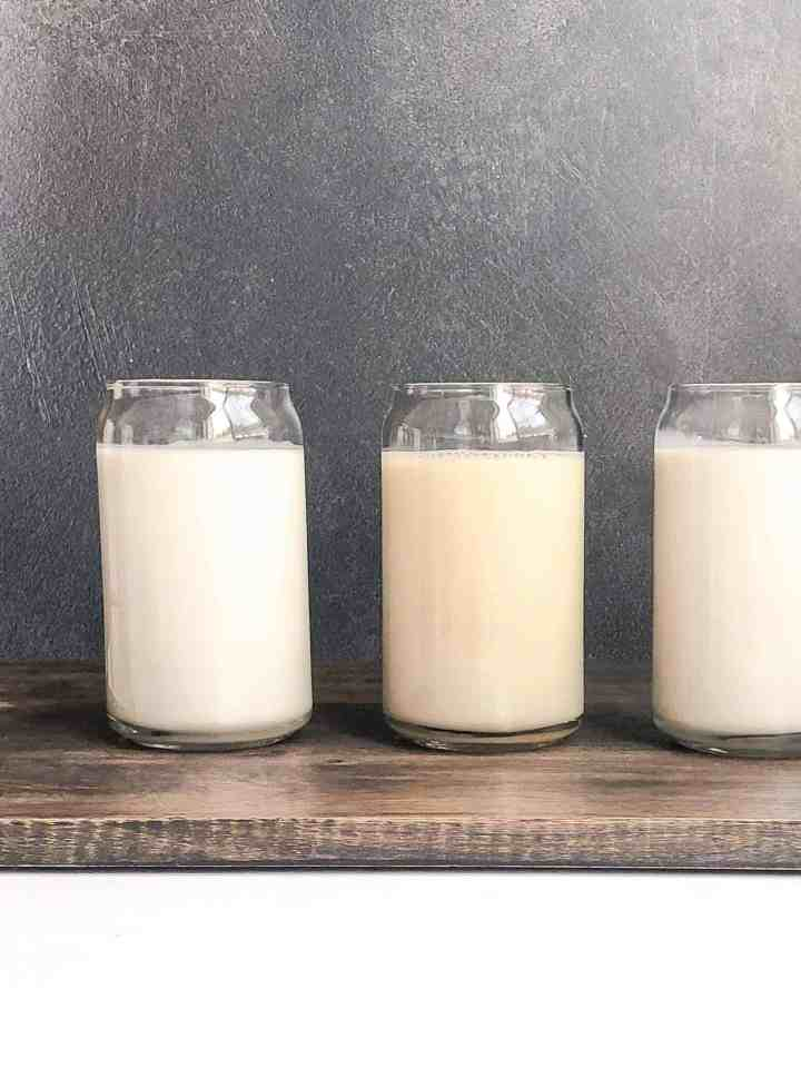 A trio of gluten free dairy free creamers.