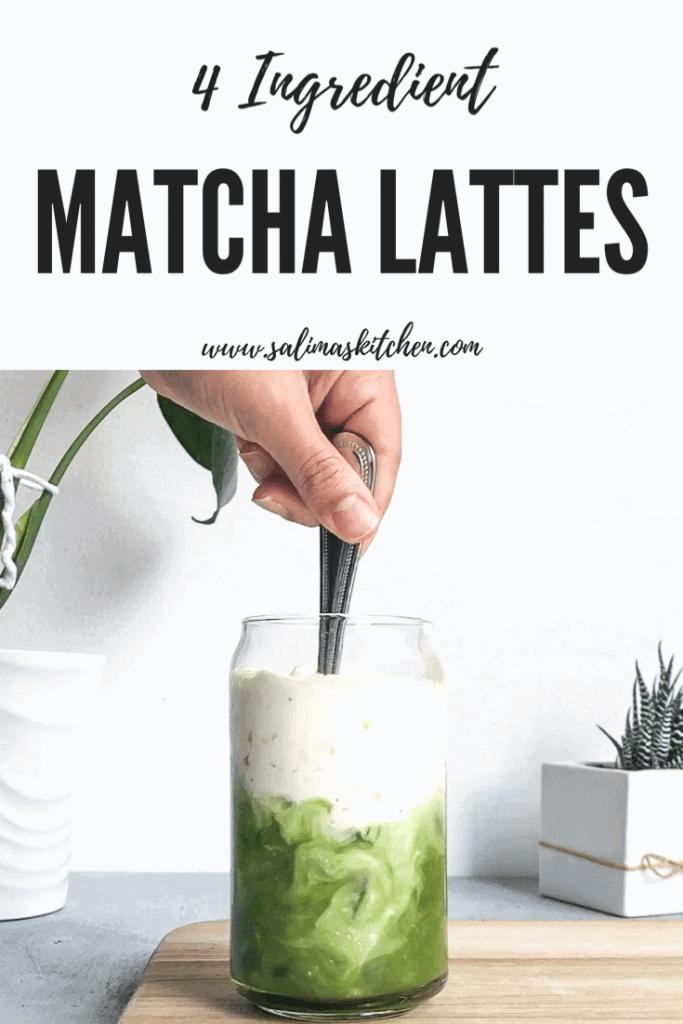 An iced matcha latte.