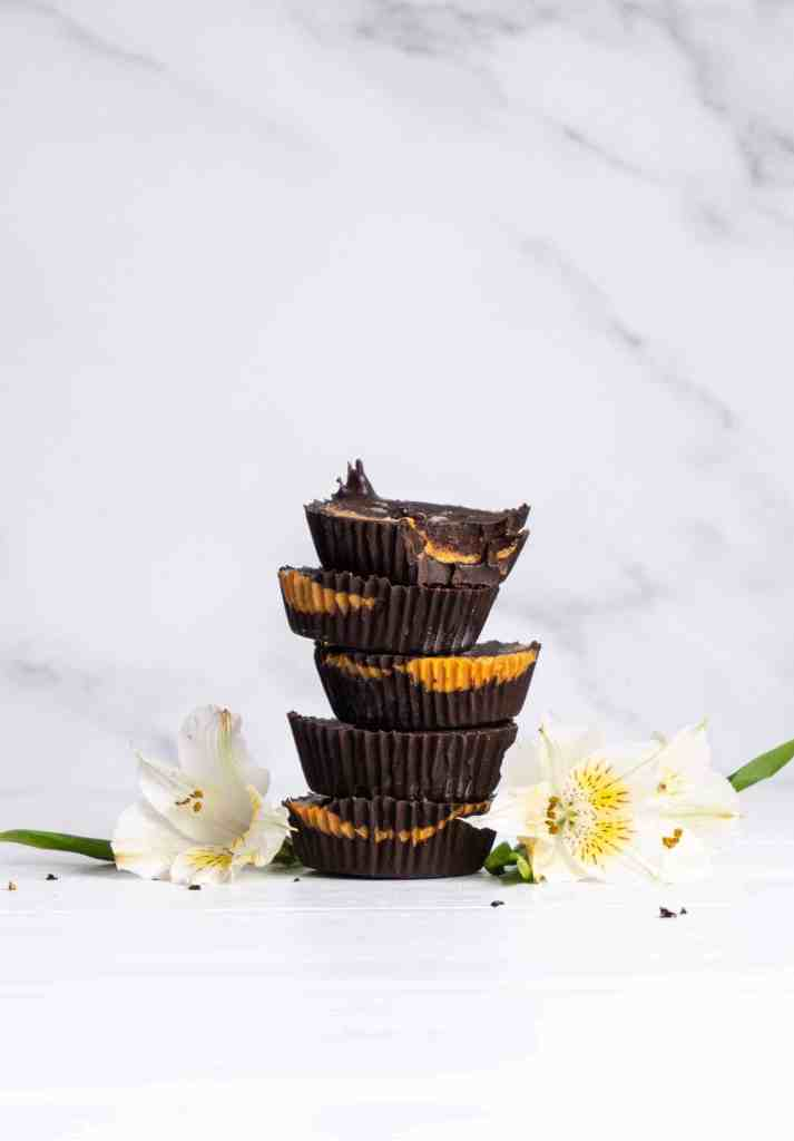 A stack of sunflower seed butter cups.
