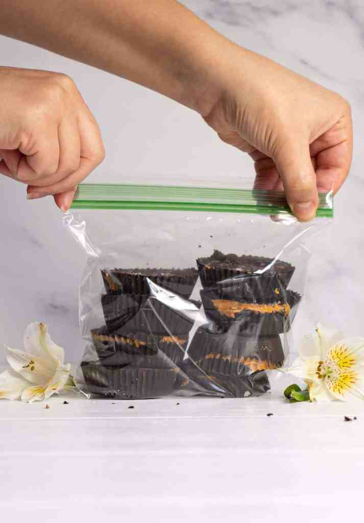 A bag of sunflower seed butter cups.