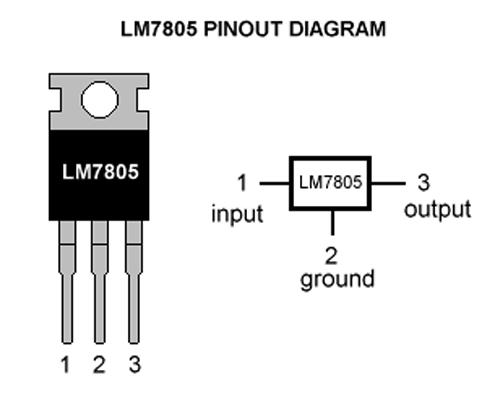 elektronika: IC Voltage Regulator (7805)