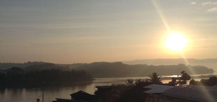 Vista desde el hotel en Chiang Kong, del otro lado: Laos