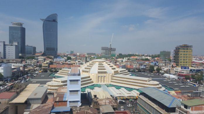 Phnom Penh desde arriba