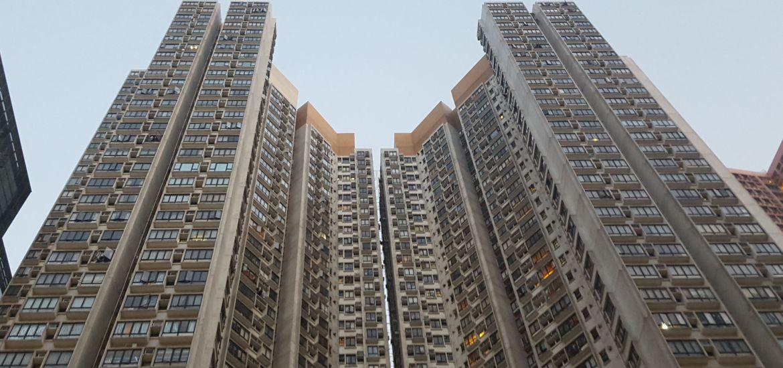 Los edificios en Hong Kong