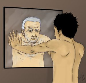 ¿Quién quiere mirarse así al espejo? Debería ser justamente al revés.