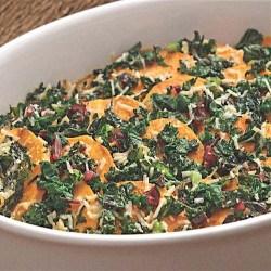 Chard and sweet potatoe gratin