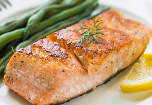 Salmon is a good source of Omega-3 fats