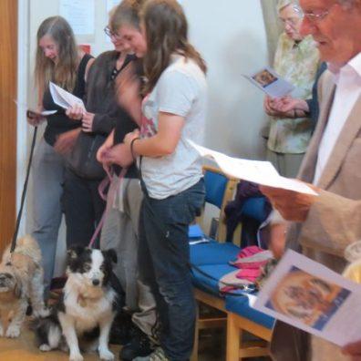 Animal Blessing service at Salisbury URC