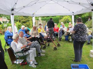 Garden party worship