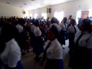 Girls Brigade induction service, St John's Zambia