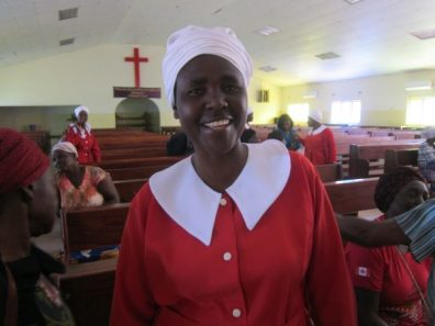 Zambia WCF member at St Johns Mtendere