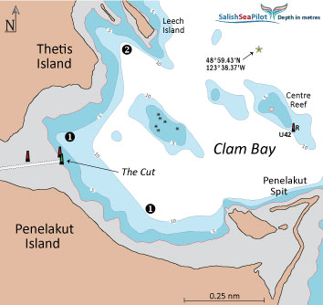 Clam Bay chartlet