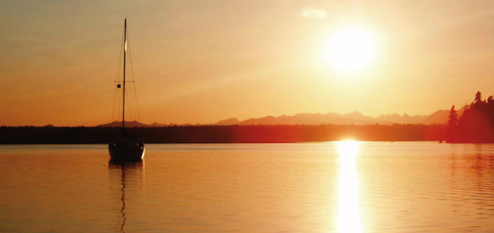 Sunset over Vaughn Bay