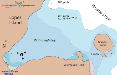 Chartlet of Watmough Bay
