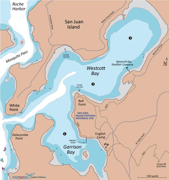 Westcott and Garrison bays