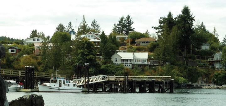 Public wharf at Van Anda
