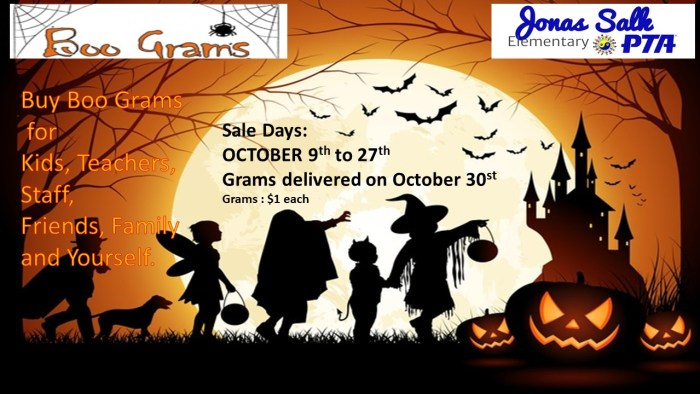 2017-2018 - Boo Grams FLYER