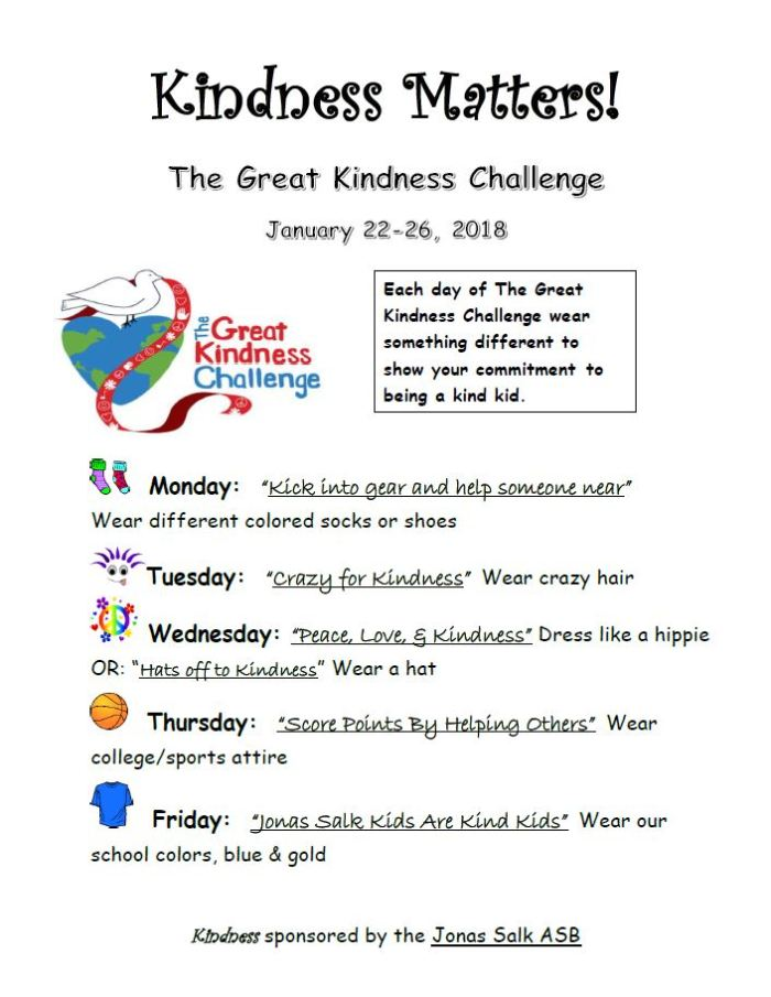 2017-2018 - Great Kindness Challenge Week