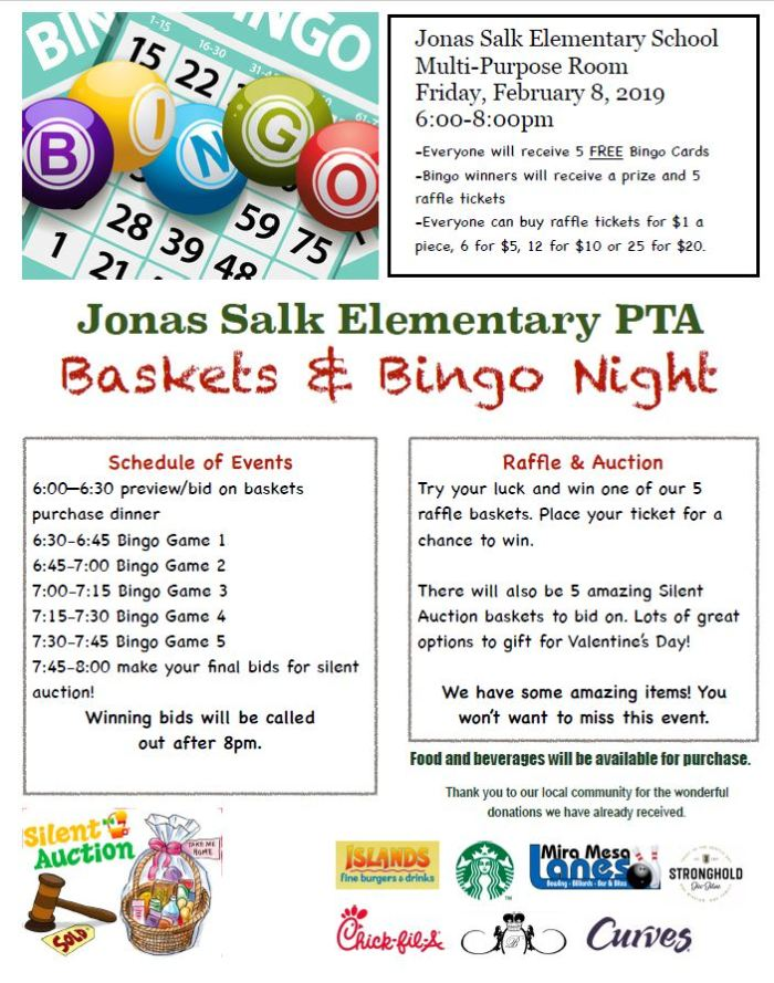 2019.02.08 - JSES Bingo Night