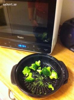Färdig ångkokad broccoli, helt perfekt!