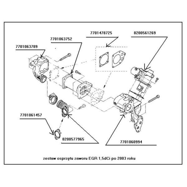 kolektor chłodnicy spalin Renault 1,5dCi 2004- (używany