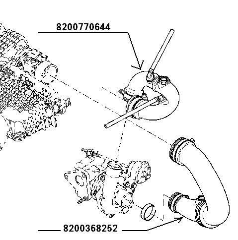 przewód powietrza Renault 1,5dCi wlot do turbiny