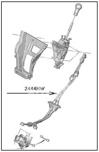 linka zmiany biegów BERLINGO III 2008- (oryginał Peugeot)