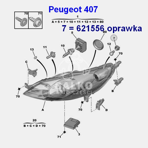 oprawka żarówki migacza Peugeot 307/ 308/ 407