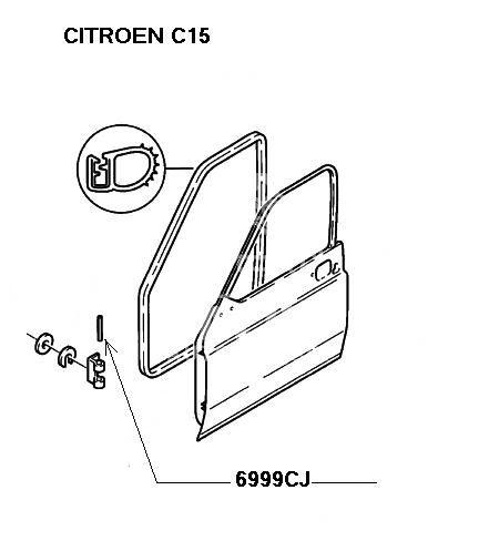 sworzeń zawiasu drzwi Citroen AX/ BX/ C15 rozprężny bolec
