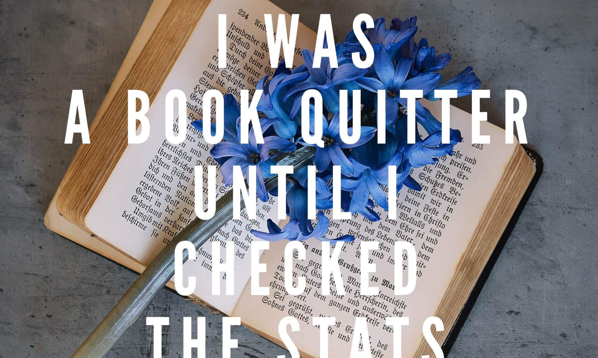 I thought this was going to be a piece in which I gleefully recount my exploits as a book quitter. Except I haven't actually quit on many books this year.