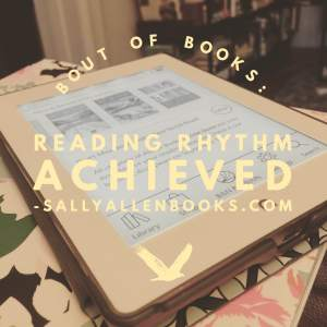 Bout of Books wrapped up yesterday. Here's my final tally of books read and reading goals (to find my reading rhythm and get lost in a book) achieved.
