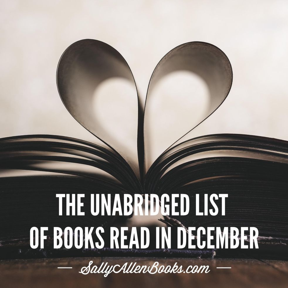 My list of books read in December and a reflection on #ReadMyOwnDamnBooks.