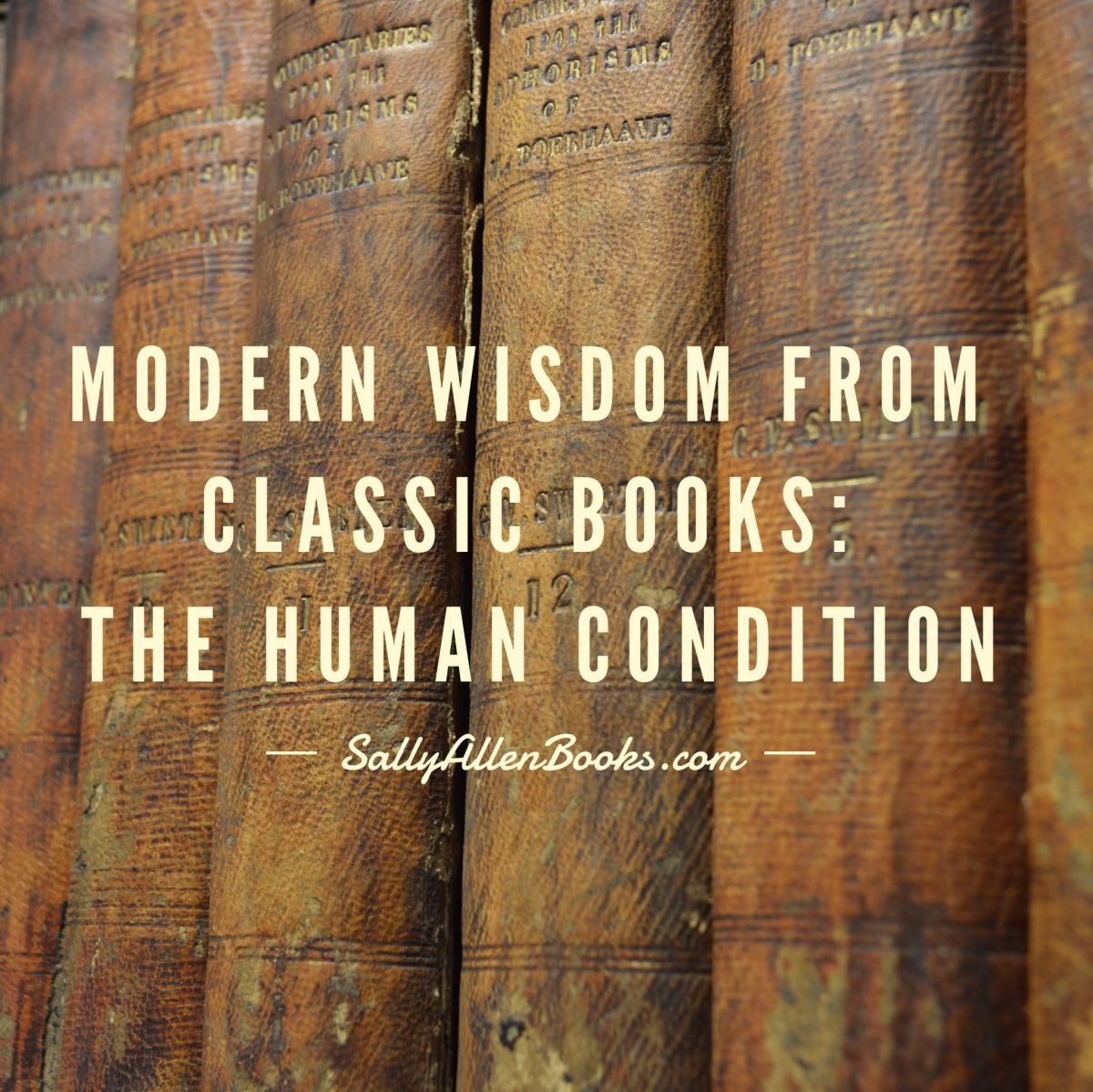 Modern Wisdom from Classic Books: The Human Condition