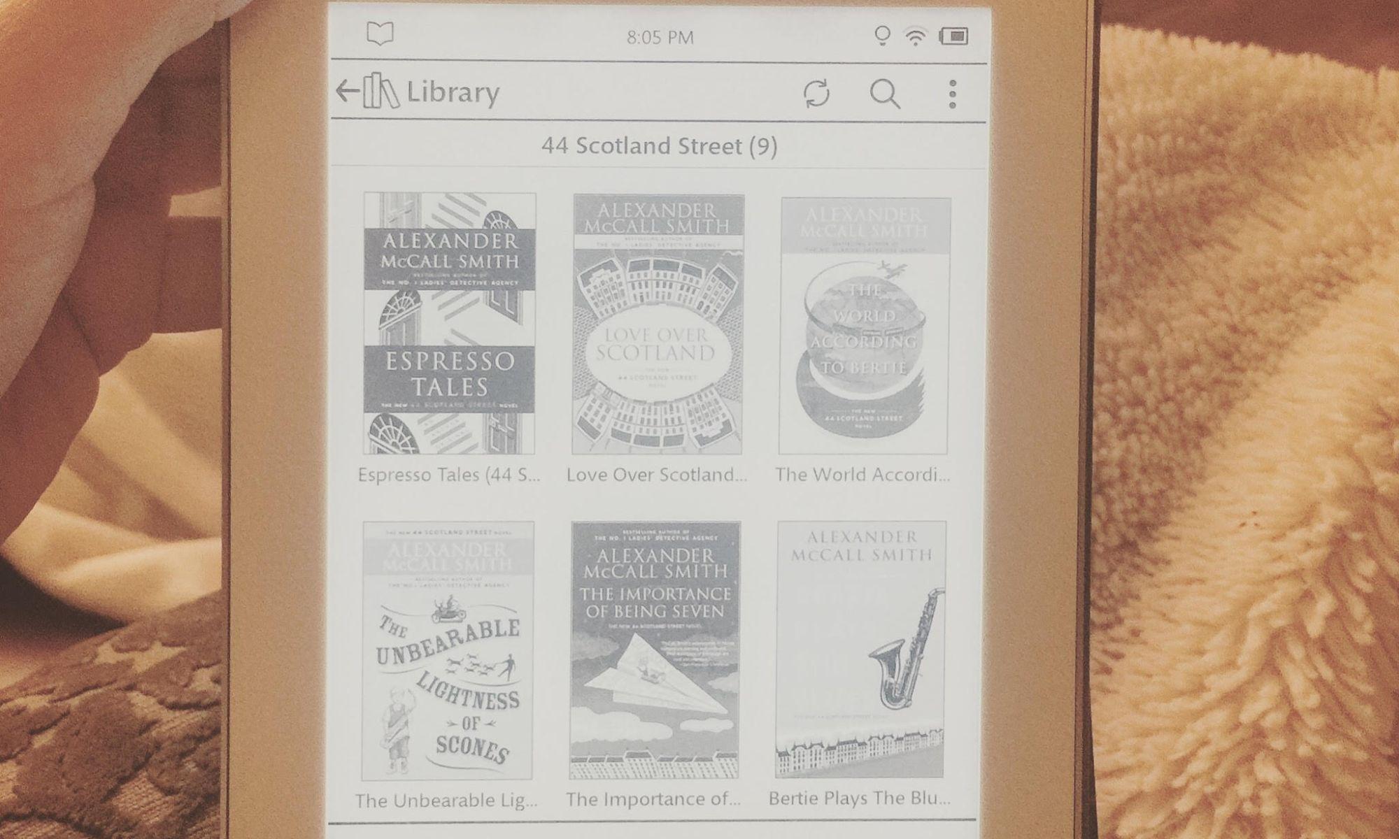 On reading the 44 Scotland Street Series