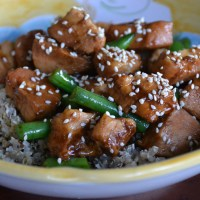 Sesame Chicken with Green Beans {in Your Crockpot}