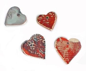small Ceramic hearts