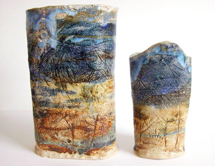 Stoneware Landscape Pots