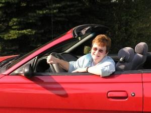 J. Q. in a Red Sports Car!