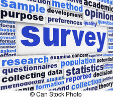 clipart of the word survey
