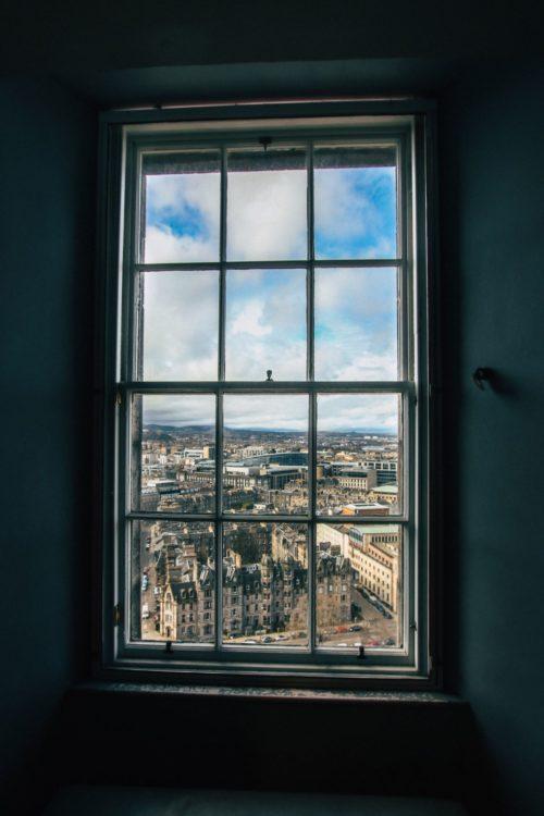 backlit window