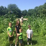 Kids and corn