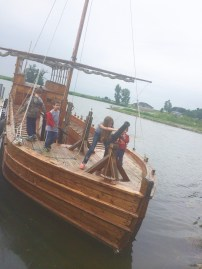 Replica of a Lewis and Clark boat.