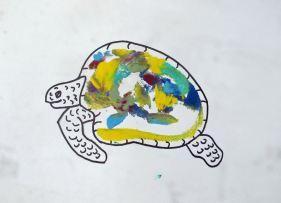 breast print turned into turtle