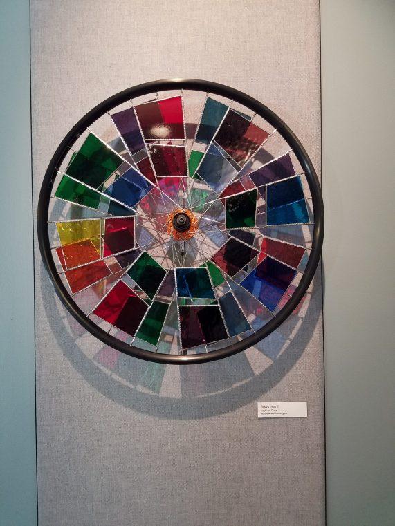 artwork in gallery: colorful pinwheel